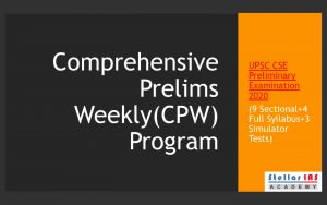 Comprehensive Prelims Weekly Program