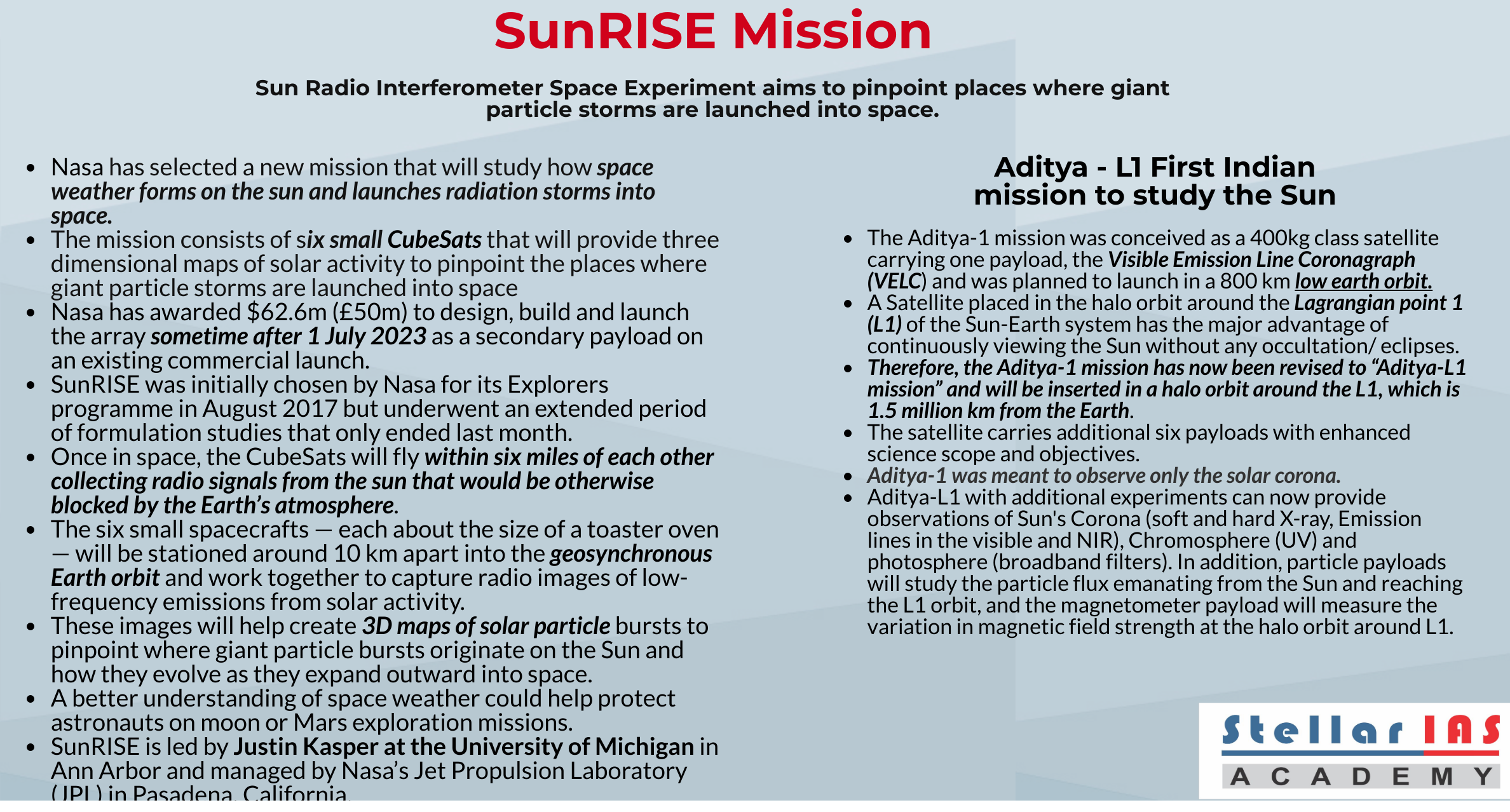 sunrise mission