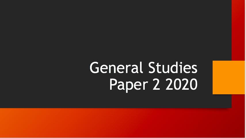 gs paper 2 2020