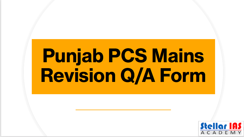 punjab pcs mains revision